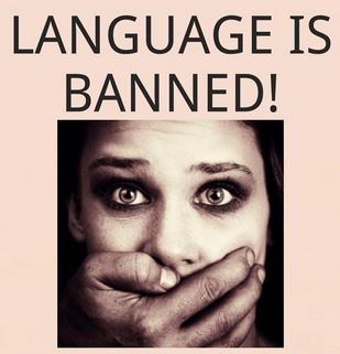 Language is banned